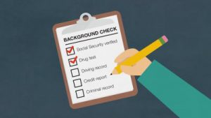 graphic of background check list