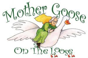 Image of mother flying on goose